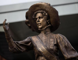 Hundreds Attend Alice Hawkins Statue Unveiling